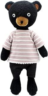 JIARU Stuffed Animals Toys Teddy Bear Plush Dressed Dolls with Removable Clothes (Striped Black-1, 9 Inch)