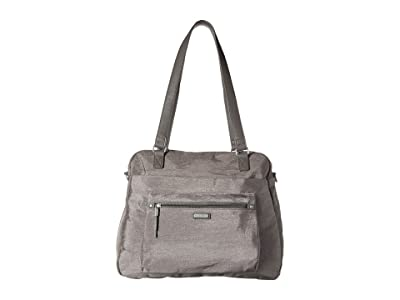 Baggallini New Classic Overnight Expandable Laptop Tote with RFID Phone Wristlet (Sterling Shimmer) Tote Handbags
