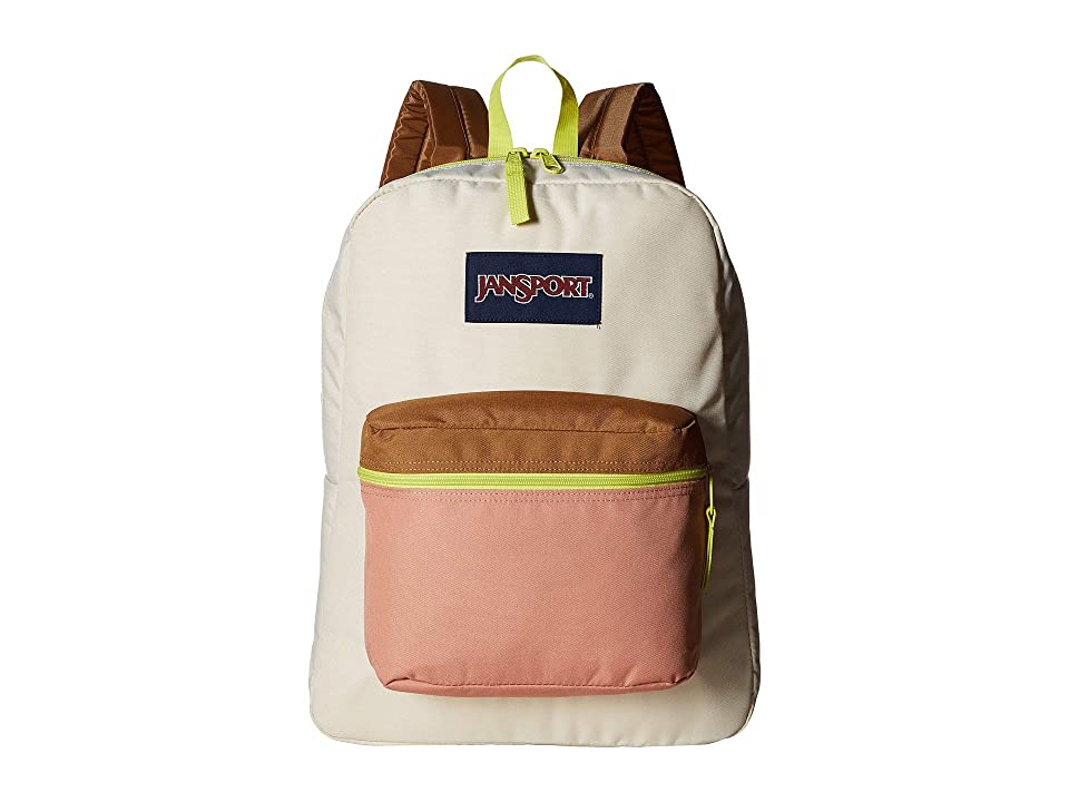 JanSport Exposed (Soft Tan/Limade) Backpack Bags