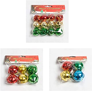 Vanselonsa Decoration 4 6 12pcs Jingle Bells Mix Hanging Est - Tree Ornaments Lights Christmas Decorative Bell Christmas Bells Baby Mount Bell Gold Disco Skirt Bird Sound Mini Button