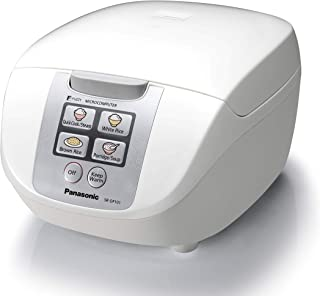 Panasonic 5-Cup Rice Cooker, White (SR-DF101WST)