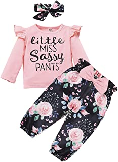 Infant Baby Girl's Clothes Outfits Letter Print Long...