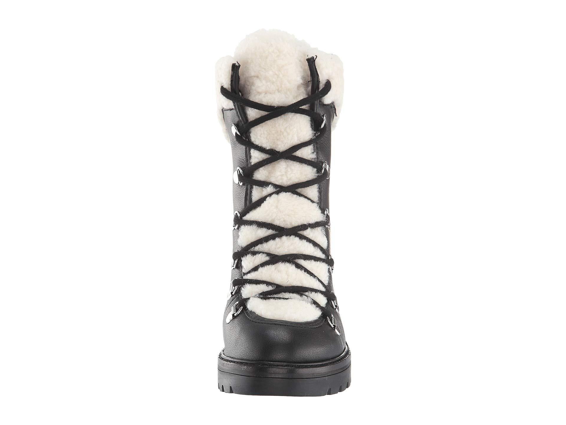 Black Shearling Daven Leather Marc Fur Fisher Ltd Multi C17twxUqw