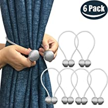 Premium Quality 6pack Magnetic Curtain Tiebacks Premium Quality 6pack Magnetic Curtain Tiebacks - Modern Style Decorative Tieback, Best for Your Home Decor (Silver, 6) Silver