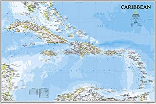 Caribbean Classic, Tubed: Wall Maps Countries & Regions