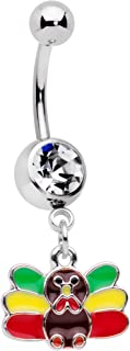 Best turkey belly button ring Reviews