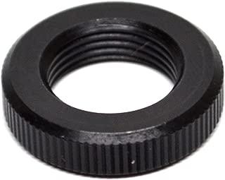 1/2x28 (1/2-28) Steel Black Oxide Jam Nut - Knurled Outside Diameter