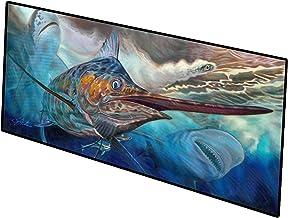 Caroline's Treasures Running The Guantlet Blue Marlin Indoor or Outdoor Runner Mat 28x58 doormats, Multicolor