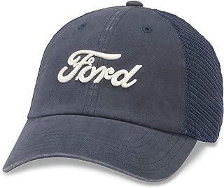 American Needle Raglan Bones Mesh Dad Hat, Ford, Navy (FORD-1805A)