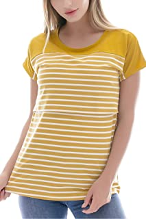 6b1ad9ad18207 Smallshow Women's Maternity Nursing Tops Striped Breastfeeding T-Shirt