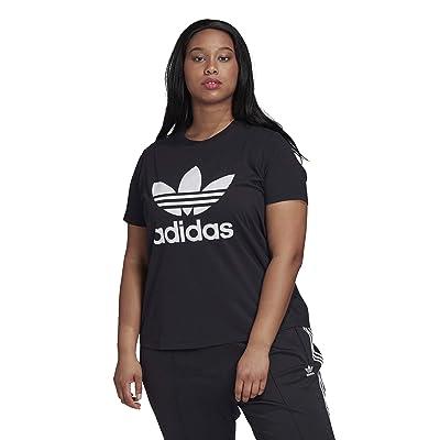 adidas Originals Plus Size Trefoil Tee (Black/White) Women