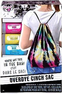 Fashion Angels Overdye Tie Dye Kit- (12708) Cinch Sak DIY Tie Dye Set, Includes Non Toxic Dyes, Drawstring Bag, Gloves, an...