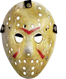SLONLI 2pcs Jason Mask Horror Hockey Killer Mask Halloween Party Cosplay for Adult, Yellow