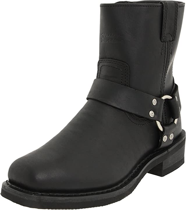 Stivali uomo harley-davidson - el paso/blk short harness w/inside zip D94422
