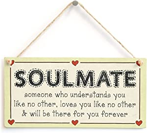 Meijiafei Soulmate Someone who understands You Like no Other, Loves You Like no Other & Will be There for You Forever - Romantic Boyfriend Girlfriend Sign 10