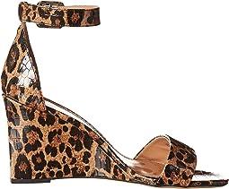 Brown Multi Leopard Croco Patent