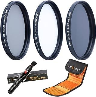 K&F Concept 52MM UV CPL ND4 52MM Filtro Kit UV Protector Polarizador Circular Filtro Densidad Neutra Filtro para Canon Nikon Cámaras + Pluma de Limpieza + Bolsa de Filtro