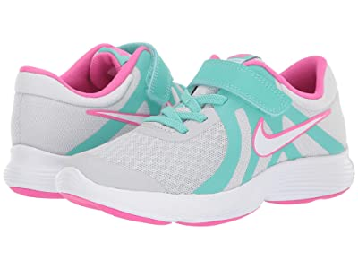 Nike Kids Revolution 4 (Little Kid) (Pure Platinum/White/Tropical Twist) Girls Shoes