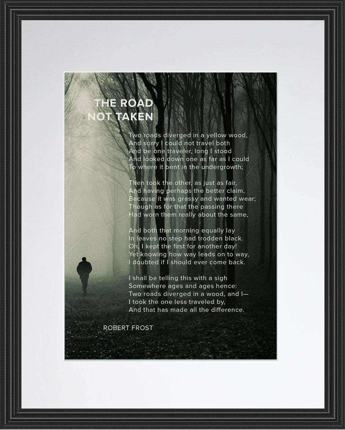 The Road Not Taken Poem by Poster Ranking TOP15 P Indianapolis Mall Motivational Robert Frost