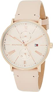 Tommy Hilfiger 1782071 Womens Quartz Watch, Analog Display and Leather Strap, Pink