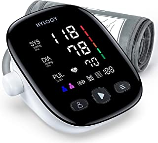 Tensiómetro de Brazo, Monitor de Presión Arterial Digital Automatico con Gran Pantalla Led, Deteccion de Irregular Arritmi...