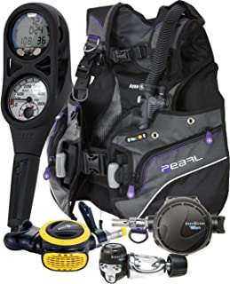 Aqualung Womens Pearl BCD Titan Regulator Dive Computer Scuba Package