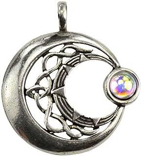 Moon Venus Rising Pendant Necklace - Durable Pewter - Bonus Cord Necklace