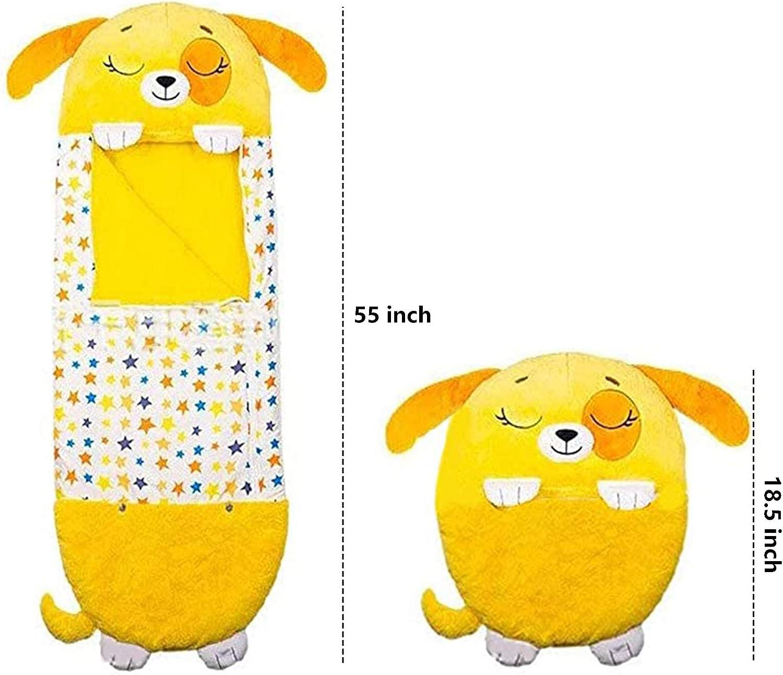 Kids Animal Sleeping Bag Foldable Soft Fun Slumber Bags Warm Fun Nap Mat Sleeping Bag with Pillow All Season