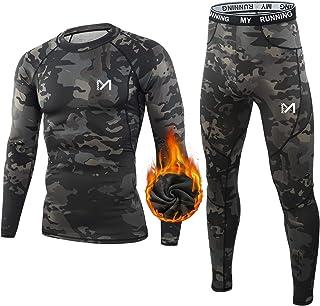 MEETYOO Men's Thermal Underwear Sports Underwear Set Base Layer Windstopper for Training Skiing Running