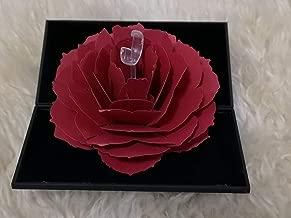 صندوق هدايا عيد ميلاد على شكل زهرة مزهرة مفاجئة لفالنتاين، الزفاف، الذكرى السنوية، صندوق هدايا عيد الميلاد (صندوق أسود مع زهرة حمراء)