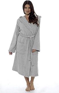 CityComfort Señoras Robe Luxury Terry Toweling algodón Bata Albornoz Mujeres Altamente Absorbente Mujeres con Capucha y Shawl Towel baño Abrigo