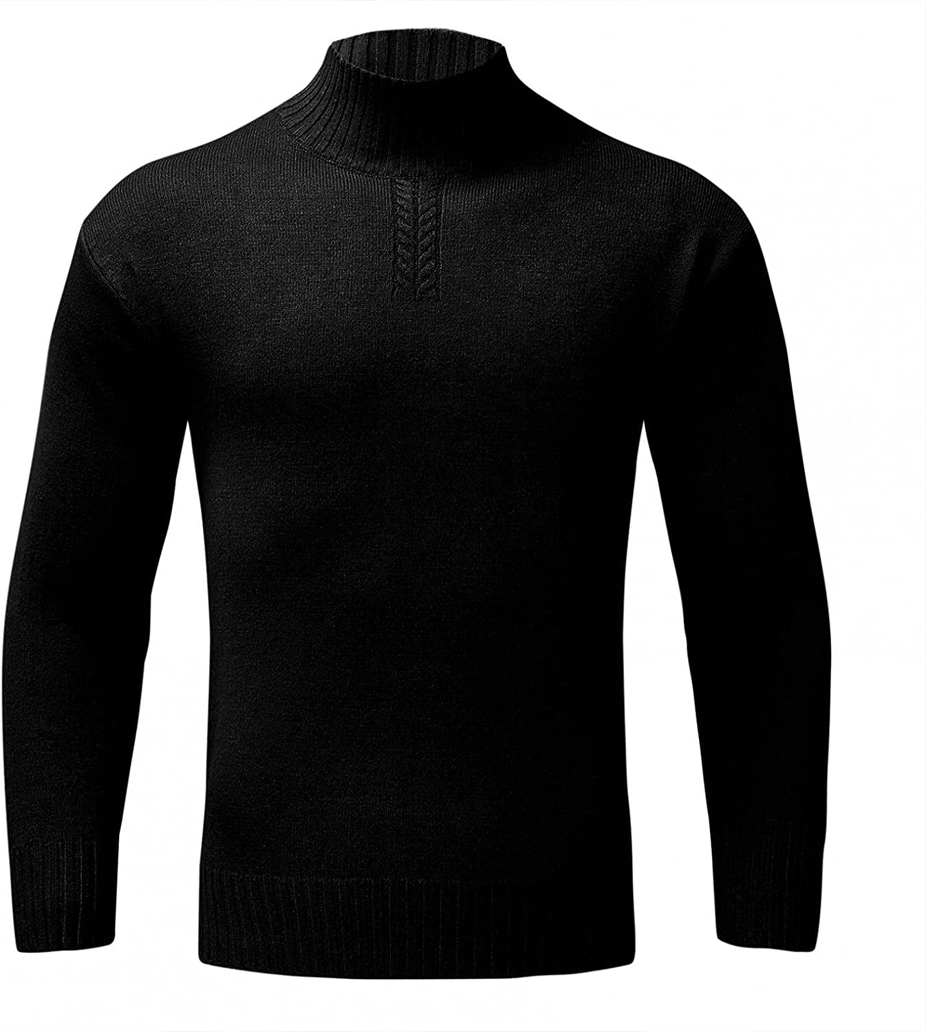 Huangse Classic Cable Knit Sweater for Men Women Solid Color Turtleneck Knitted Pullover Long Sleeve Knit Jumper Sweaters
