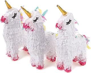 Unicorn Party Supplies, Mini Pinata (5.25 x 8.7 x 2.1 In, 3-Pack)