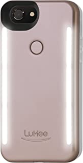 LuMee Duo Cell Phone Case for iPhone 8 (also fits iPhone 7), Illuminated LED, The Original and Authentic Celebrity Endorsed Light Up Case - Rose Matte
