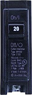Eaton Cutler-Hammer Single-Pole BR Type Circuit Breaker, 20-Amp, 120/240-Volt
