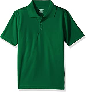 Classroom School Uniforms Boys' Little Youth Unisex Moisture-Wicking Polo Shirt, sos Kelly Green, XS