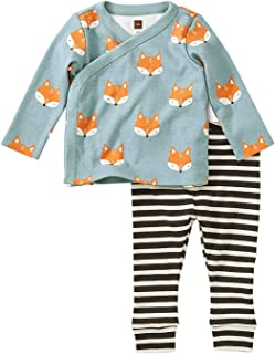 Tea Collection Wrap Top Baby Outfit, Foxes, Multiple