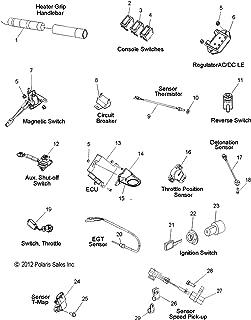 Polaris HeaterGrip Lo/Hi Aluminum, Genuine OEM Part 2411087, Qty 1