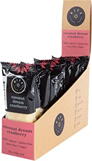 KITZ Organic Coconut Dream Cranberry Bar | Dairy Free and Gluten Free | Delicious Vagan Snacks | Pack of 10 x 45g | Food i...