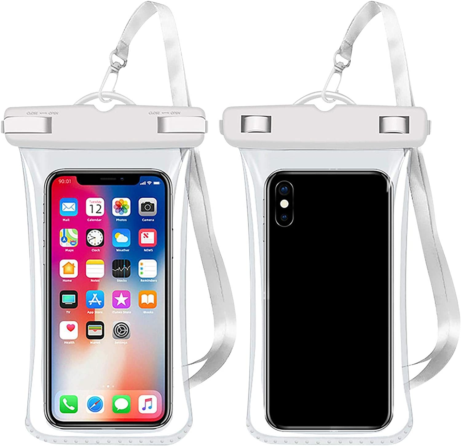 Universal Waterproof Case Cellphone Dry Bag Pouch for iPhone 12 Pro Max 11 Pro Max Xs Max XR XS X 8 7 6S Plus SE 2020, Galaxy S20 Ultra S10 S9 S8/Note 10 9 up to 6.0