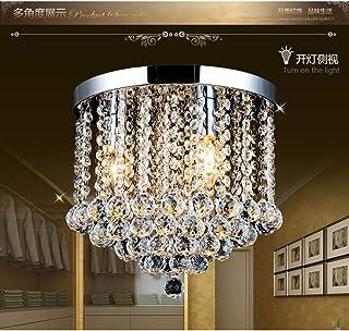 Junhong Flush Mount Ceiling Light LED 3 Brightness K9 Crystal Chandelier, Pendant Light, Apply to Living Room,Corridor,Ais...