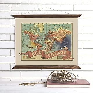 Travel Map Pull Down Wall Art | Bon Voyage | Wendy Gold