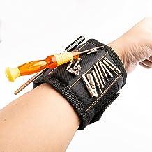 AIBAOBAO Magnetische armband, doe-het-zelf gereedschapsriem Vader Timmerman Heren Gadgets Geschenken Armband met 15 sterke...