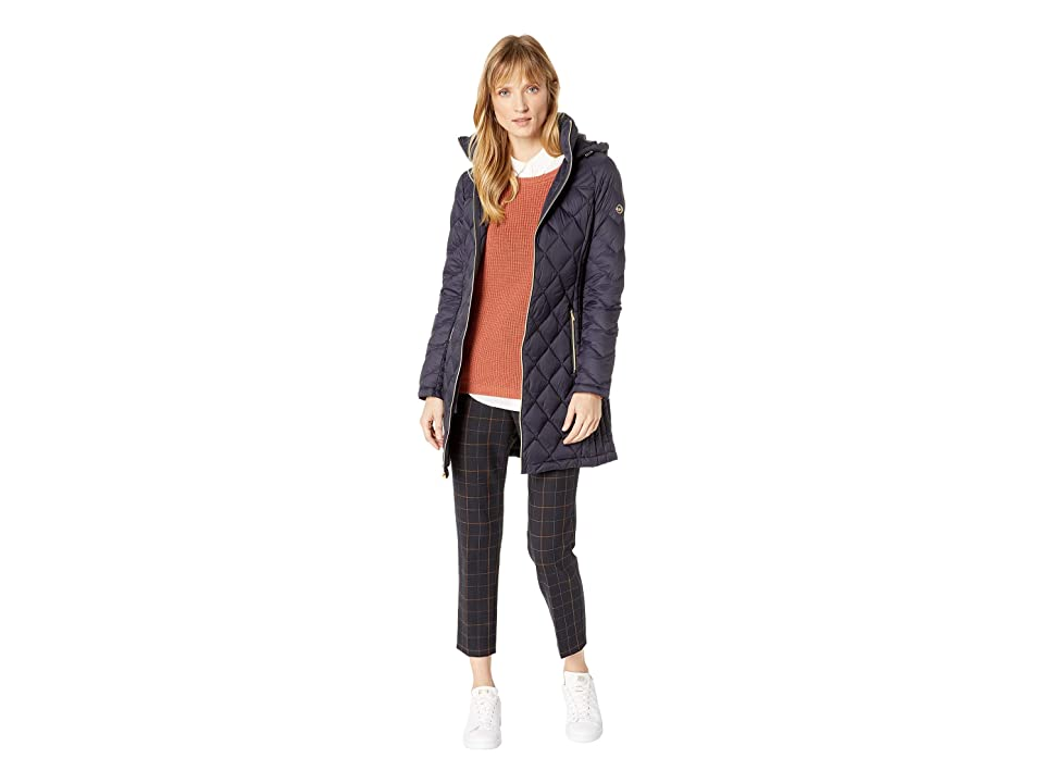 MICHAEL Michael Kors Zip Front 3/4 Packable M821754GKA (Navy) Women