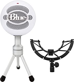 Blue Snowball iCE Mic (White) with Knox Gear Shock Mount