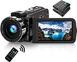 """دوربین فیلمبرداری دوربین فیلمبرداری FHD 1080P 30FPS 36MP IR Vision Night Night YouTube Vlogging Camera Recorder 3.0 """""""" Screen 16X Digital Zoom دوربین فیلمبرداری با ریموت و 2 باتری"""