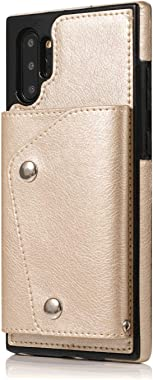 OOALUCK Shockproof Leather Flip Case for iPhone 7 Plus, Business Wallet Cover Compatible with iPhone 7 Plus Smartphone