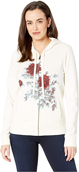 Water Color Floral Hooded Sweatshirt