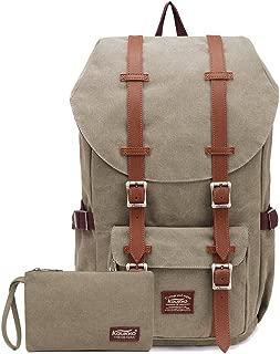 KAUKKO Rucksack Studenten Backpack 17 Zoll für 15