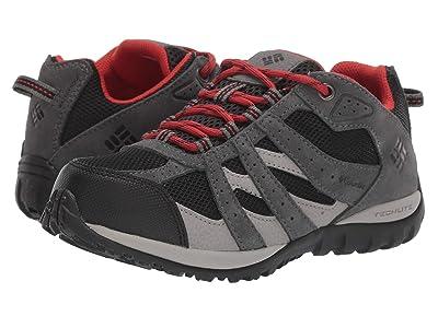 Columbia Kids Redmond Waterproof (Little Kid/Big Kid) (Black/Flame) Boys Shoes